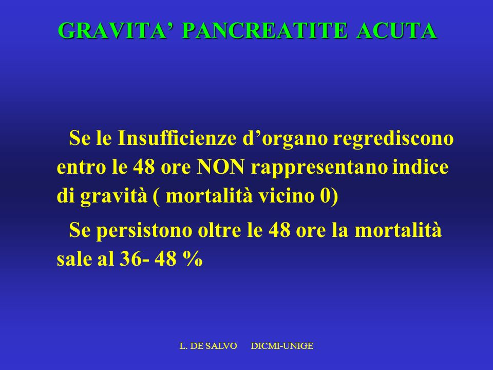 GRAVITA' PANCREATITE ACUTA