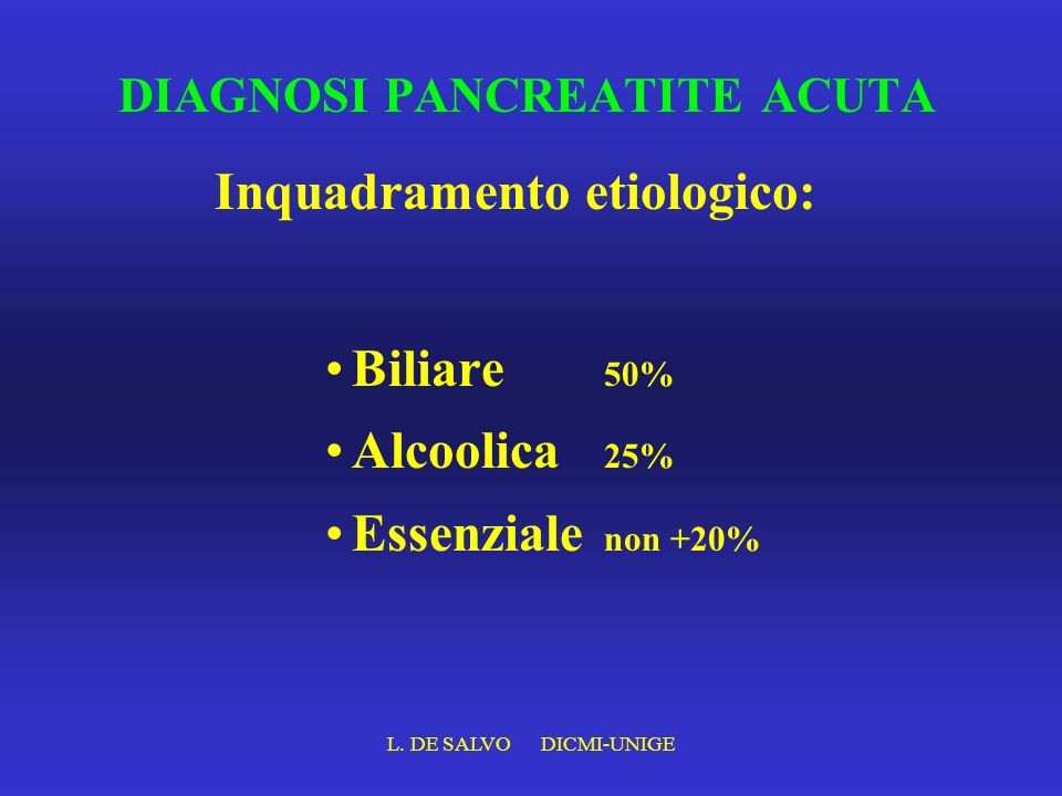 DIAGNOSI PANCREATITE ACUTA
