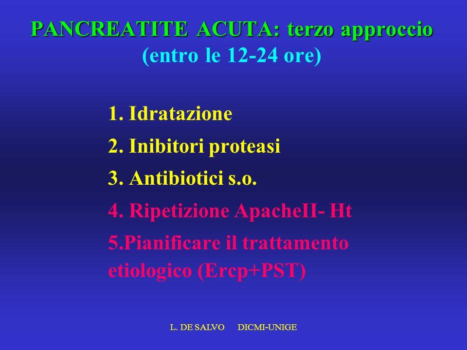 PANCREATITE ACUTA: terzo approccio (entro le 12-24 ore)