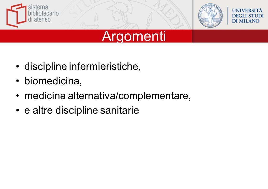 Argomenti discipline infermieristiche, biomedicina,