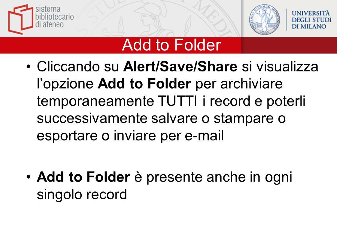 Add to Folder