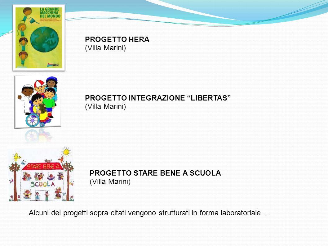 PROGETTO HERA (Villa Marini) PROGETTO INTEGRAZIONE LIBERTAS (Villa Marini) PROGETTO STARE BENE A SCUOLA.
