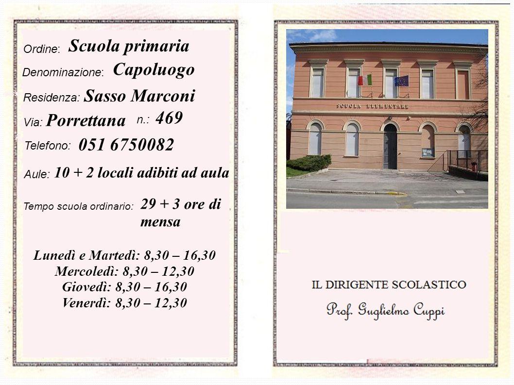Scuola primaria Capoluogo Sasso Marconi 469 Porrettana 051 6750082