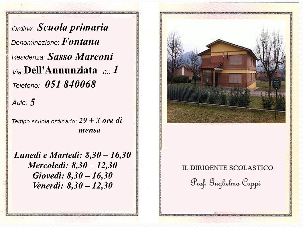 Scuola primaria Fontana Sasso Marconi Dell Annunziata 1 051 840068 5