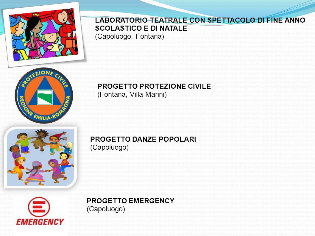 LABORATORIO TEATRALE CON SPETTACOLO DI FINE ANNO SCOLASTICO E DI NATALE