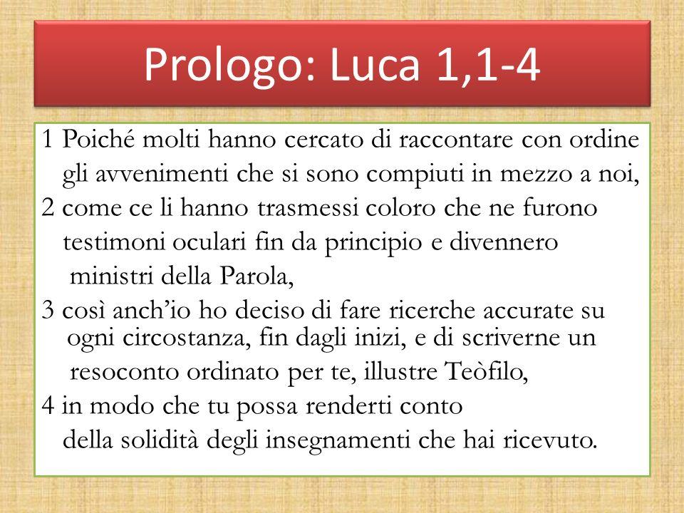 Prologo: Luca 1,1-4