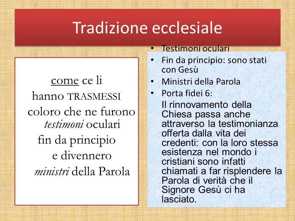 Tradizione ecclesiale
