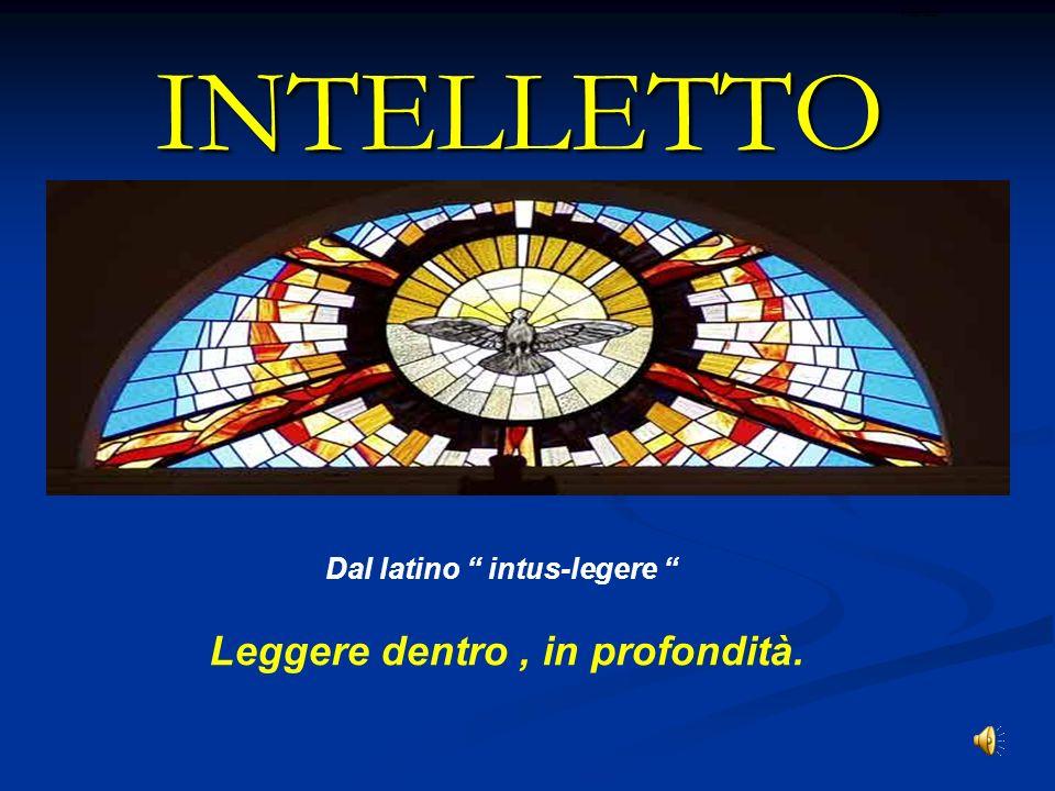 Dal latino intus-legere Leggere dentro , in profondità.