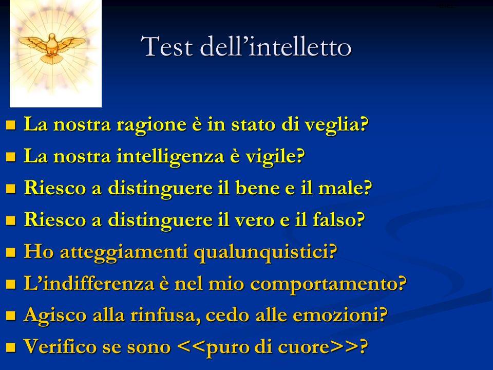 Test dell'intelletto La nostra ragione è in stato di veglia
