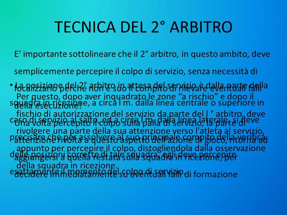 TECNICA DEL 2° ARBITRO