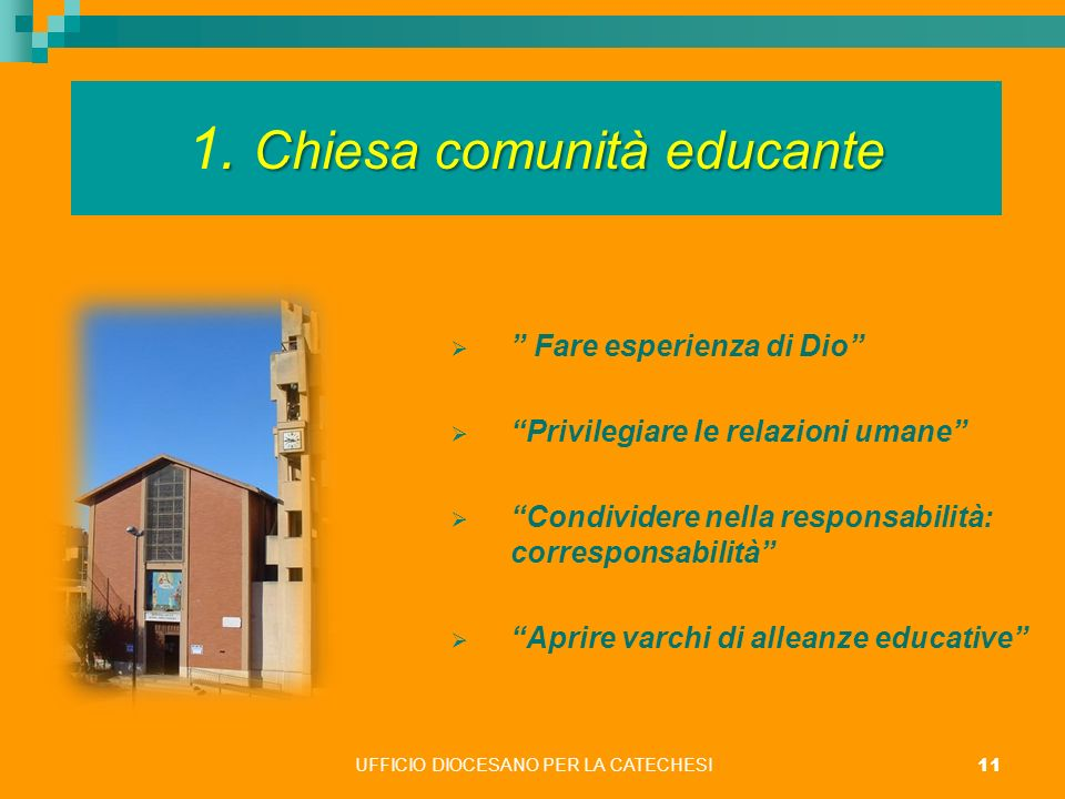 1. Chiesa comunità educante