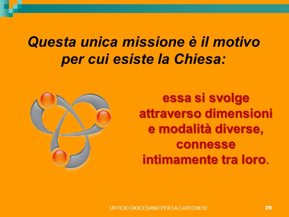 Questa unica missione è il motivo per cui esiste la Chiesa: