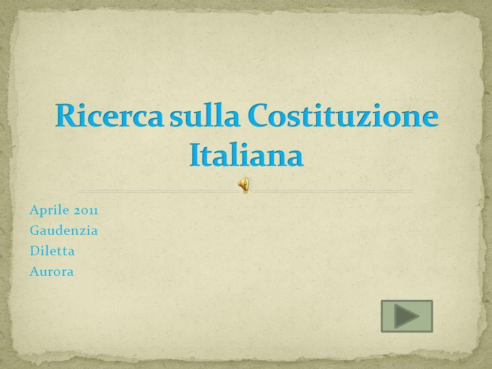 Ricerca sulla Costituzione Italiana