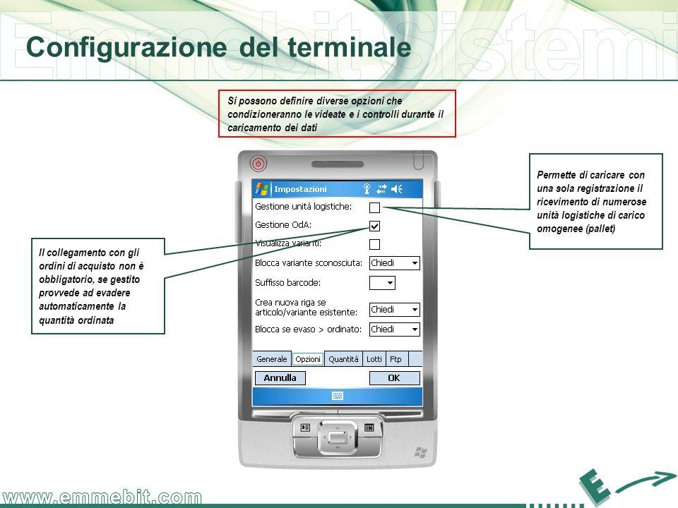 Configurazione del terminale