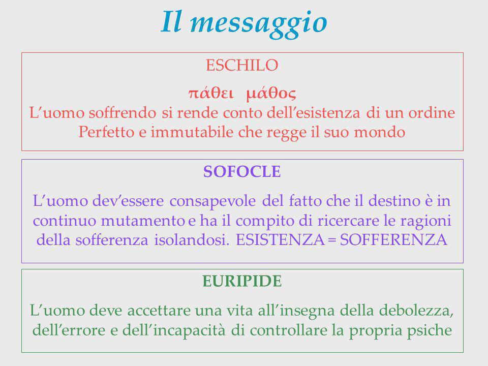 Il messaggio ESCHILO πάθει μάθος