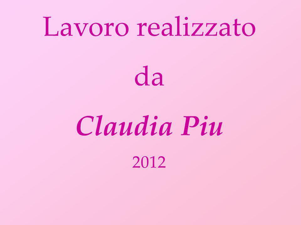 Lavoro realizzato da Claudia Piu 2012