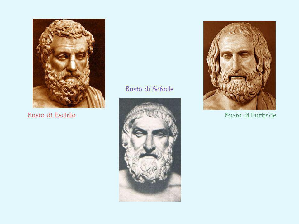 Busto di Sofocle Busto di Eschilo Busto di Euripide