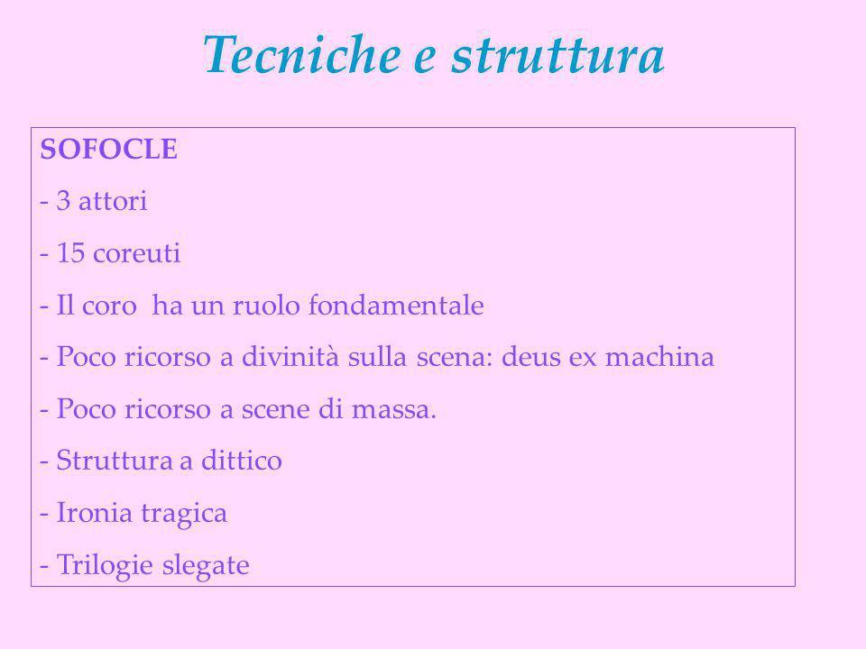 Tecniche e struttura SOFOCLE 3 attori 15 coreuti