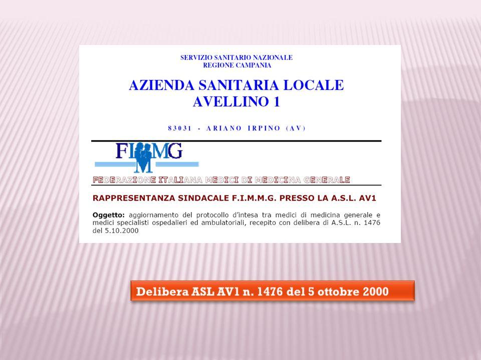 Delibera ASL AV1 n. 1476 del 5 ottobre 2000