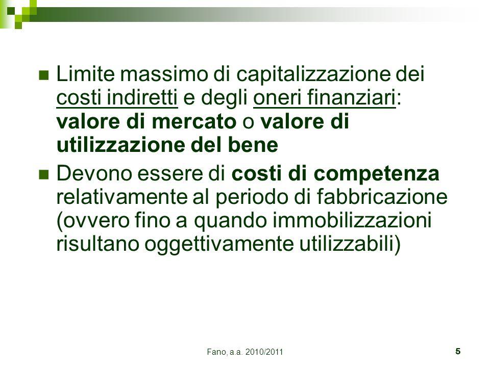 Limite massimo di capitalizzazione dei costi indiretti e degli oneri finanziari: valore di mercato o valore di utilizzazione del bene