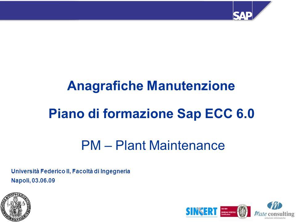 Piano di formazione Sap ECC 6.0