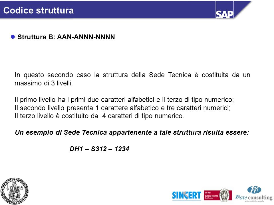 Codice struttura Struttura B: AAN-ANNN-NNNN