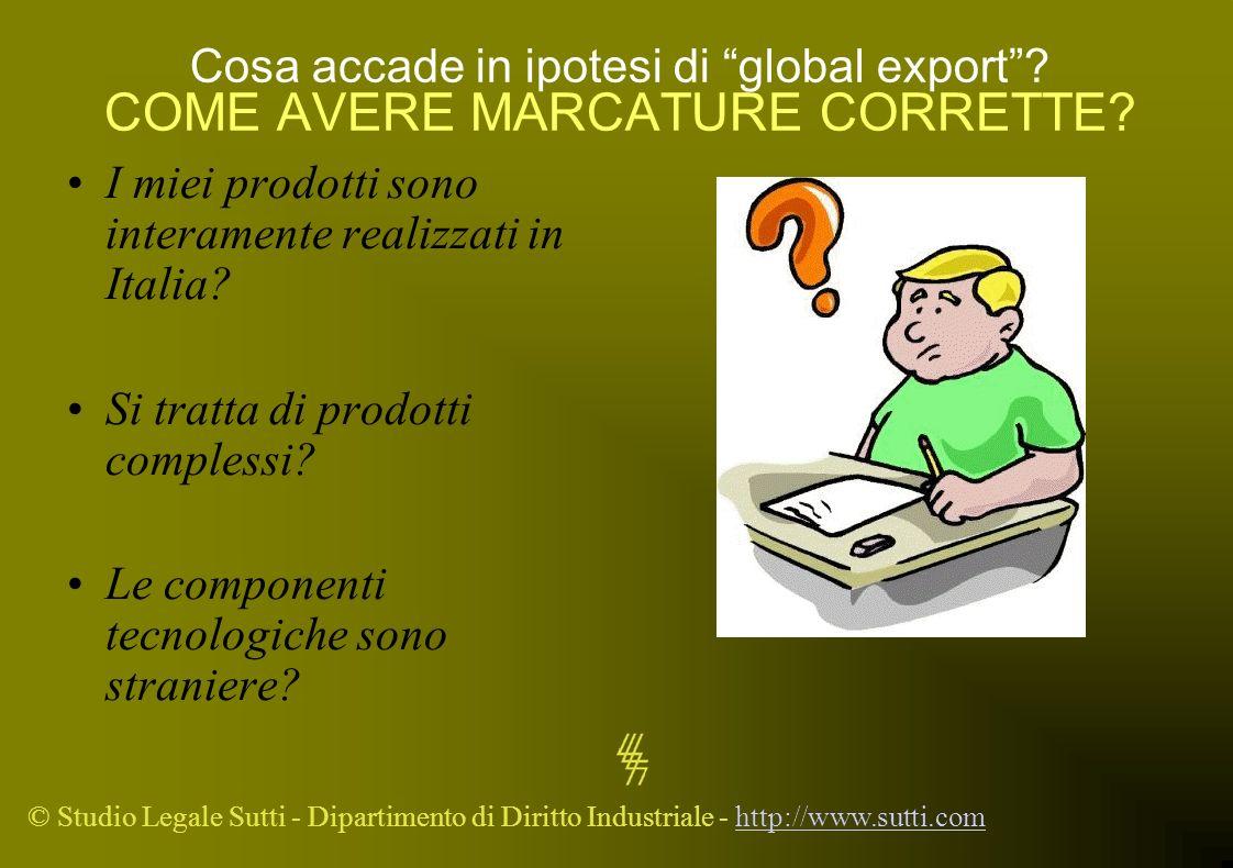 Cosa accade in ipotesi di global export