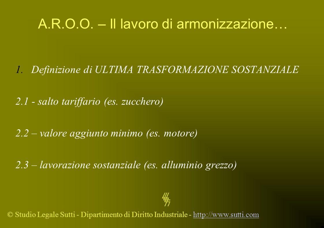 A.R.O.O. – Il lavoro di armonizzazione…