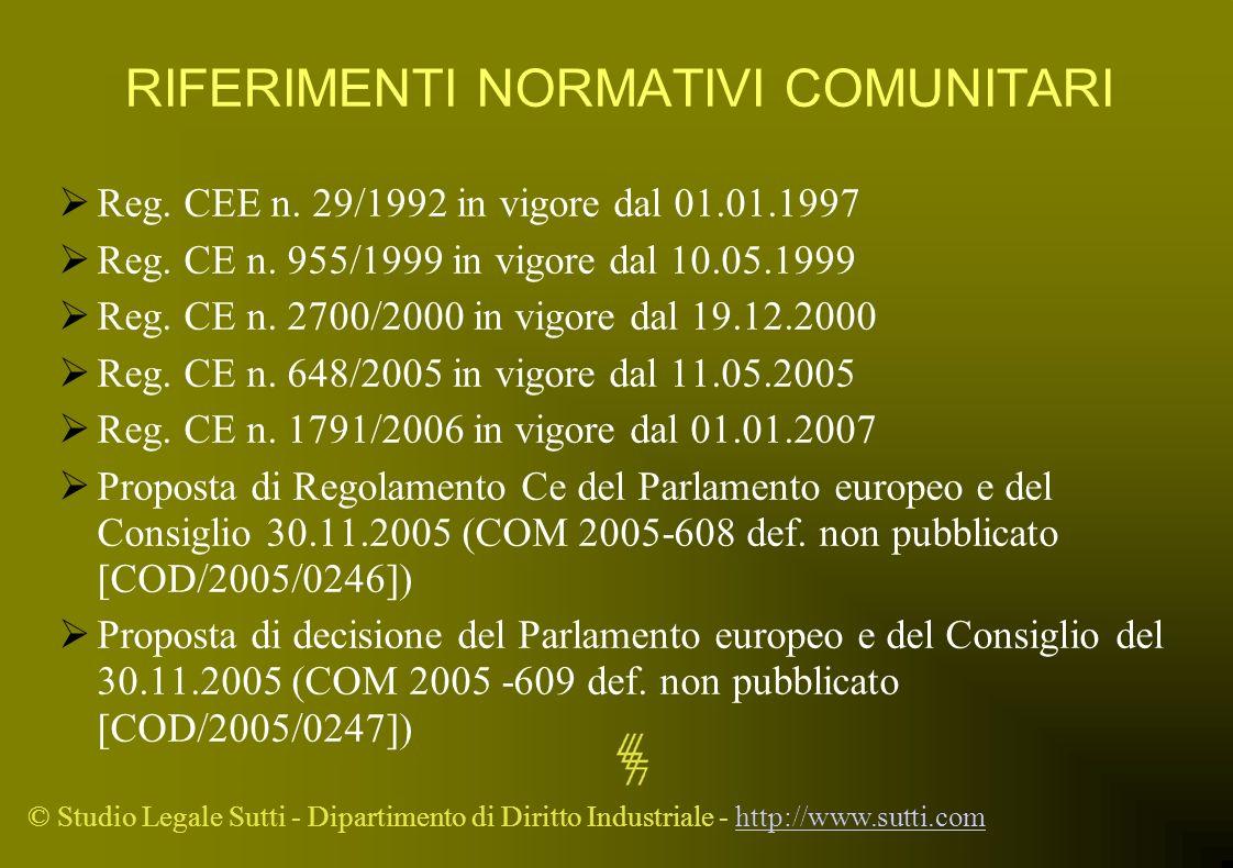 RIFERIMENTI NORMATIVI COMUNITARI