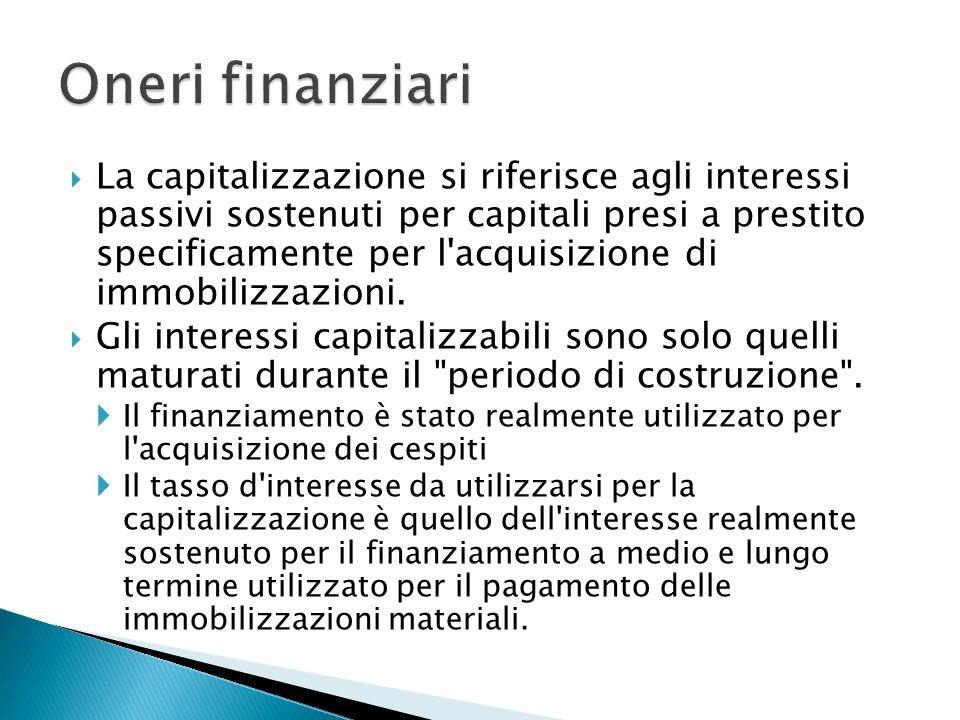 Oneri finanziari