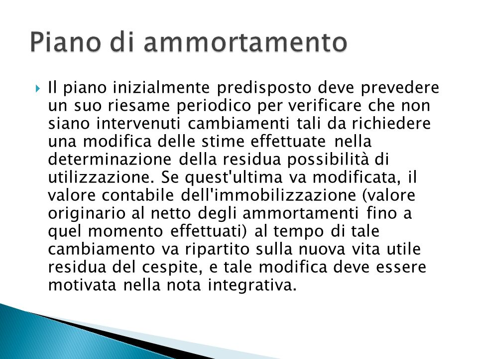 Piano di ammortamento
