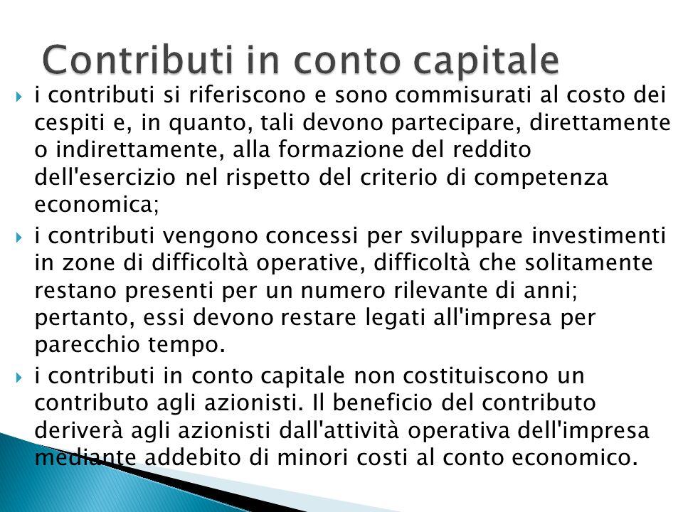 Contributi in conto capitale