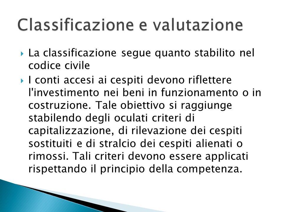 Classificazione e valutazione