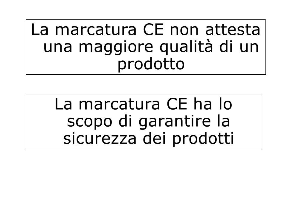 La marcatura CE non attesta una maggiore qualità di un prodotto
