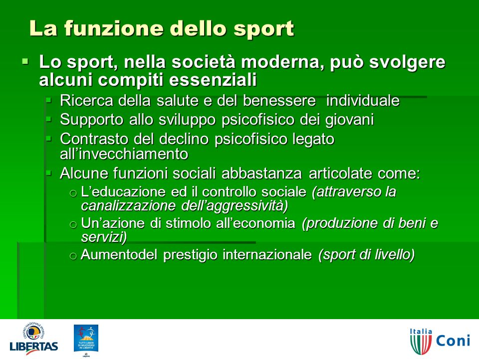 La funzione dello sport