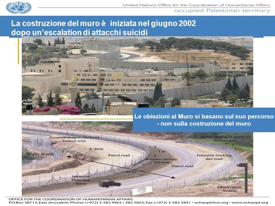La costruzione del muro è iniziata nel giugno 2002
