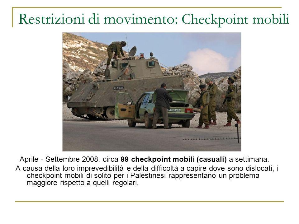 Restrizioni di movimento: Checkpoint mobili