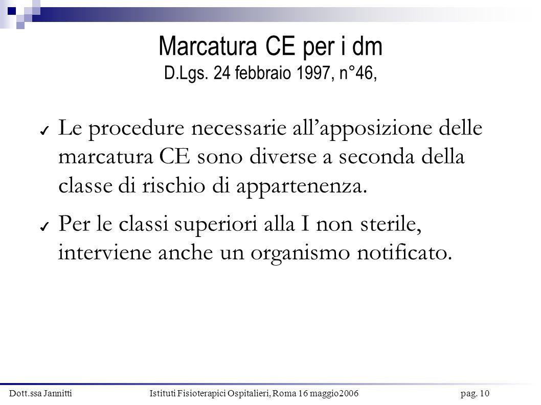 Marcatura CE per i dm D.Lgs. 24 febbraio 1997, n°46,