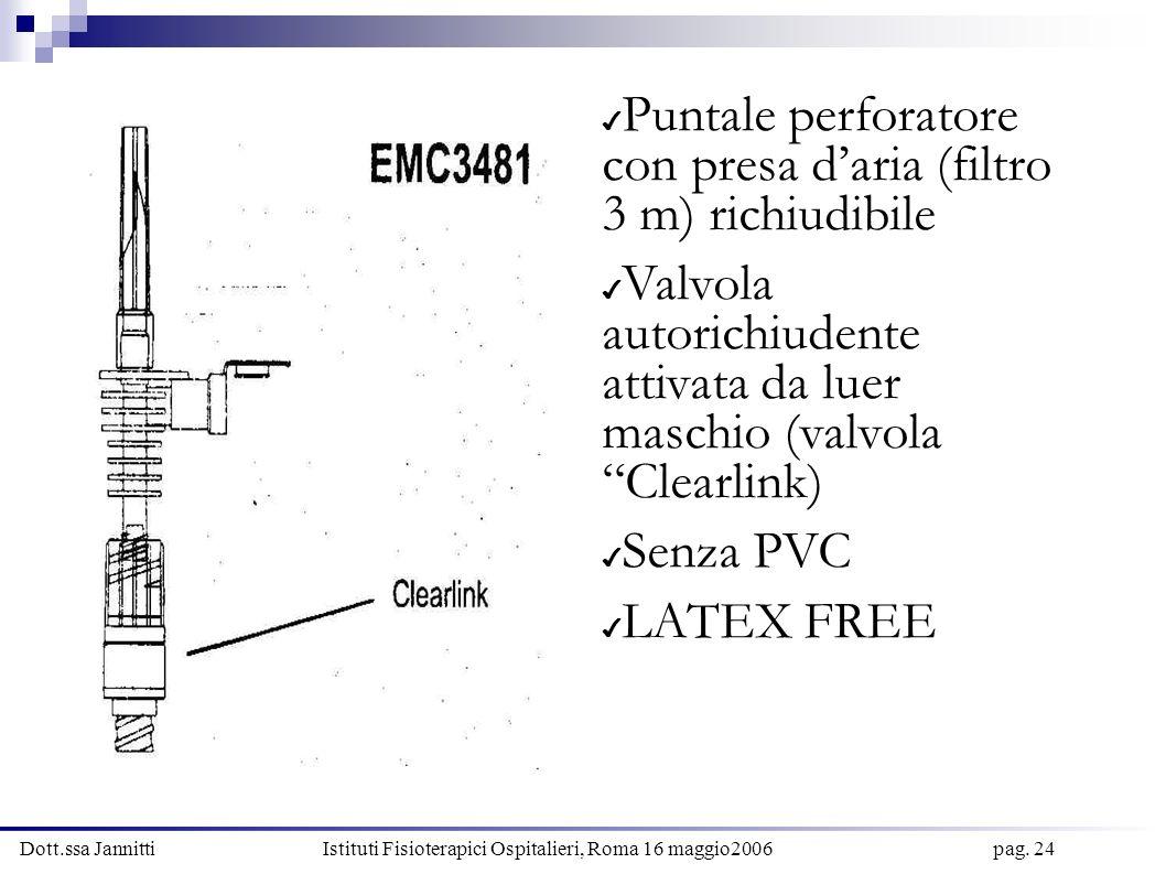 Puntale perforatore con presa d'aria (filtro 3 m) richiudibile