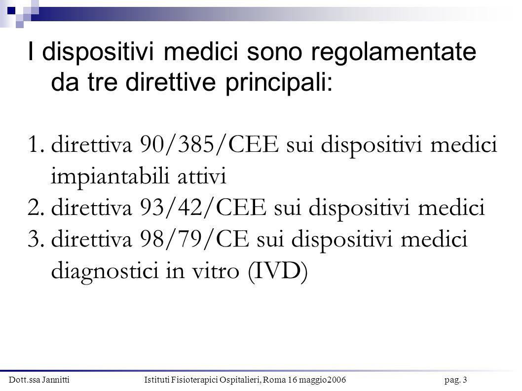 I dispositivi medici sono regolamentate da tre direttive principali: