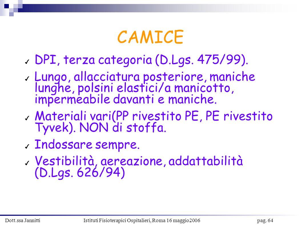 CAMICE DPI, terza categoria (D.Lgs. 475/99).
