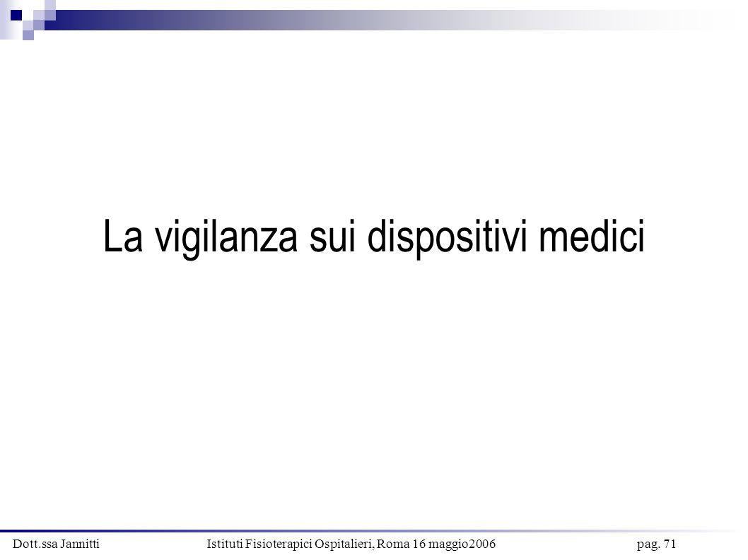 La vigilanza sui dispositivi medici