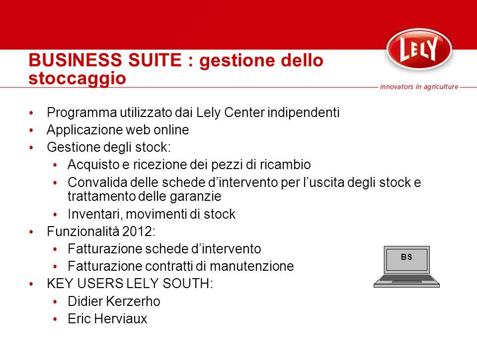 BUSINESS SUITE : gestione dello stoccaggio