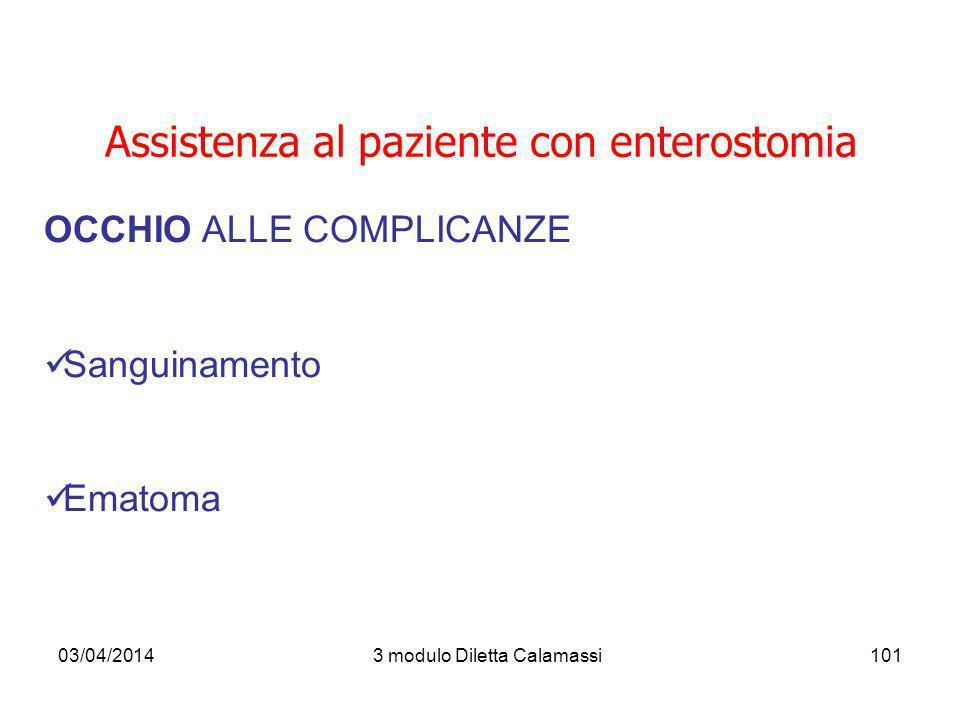 Assistenza al paziente con enterostomia