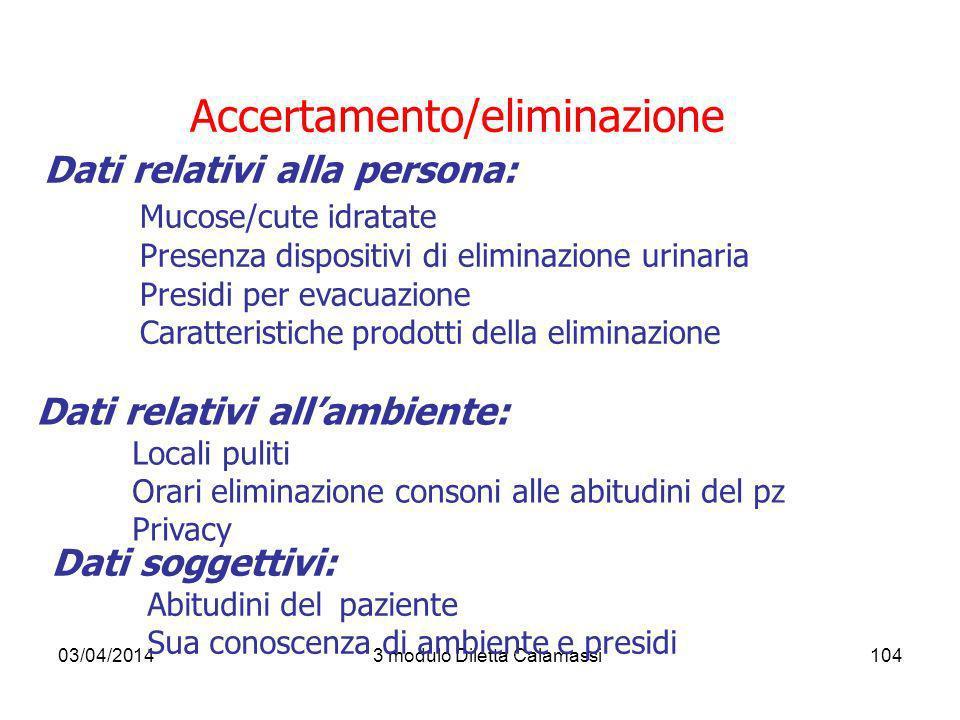 Accertamento/eliminazione