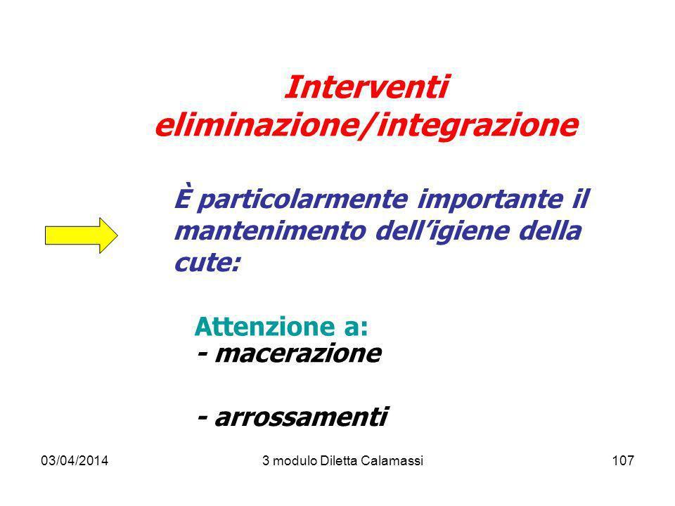 Interventi eliminazione/integrazione