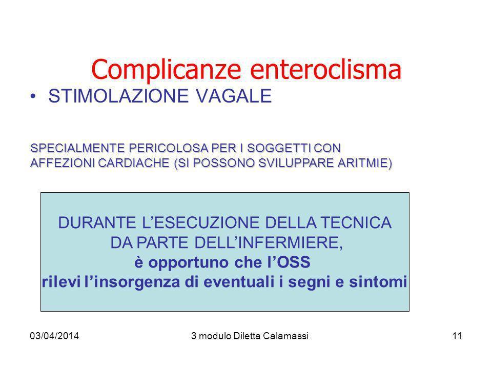 Complicanze enteroclisma