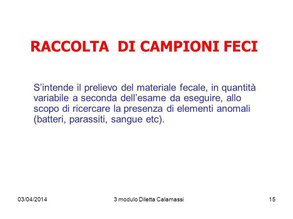 RACCOLTA DI CAMPIONI FECI