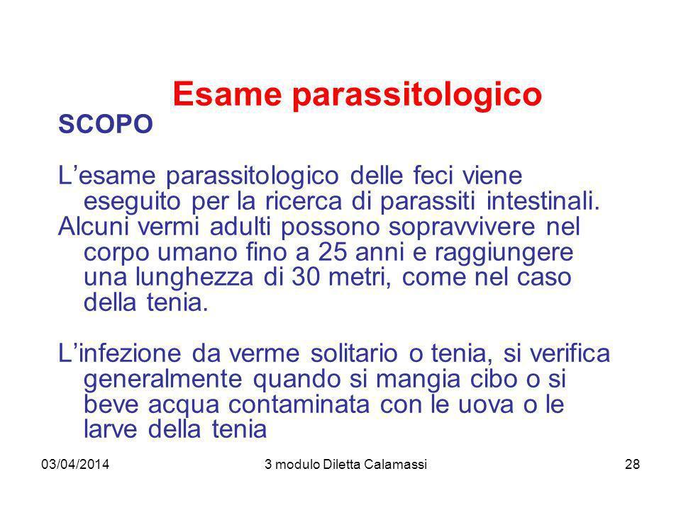 Esame parassitologico