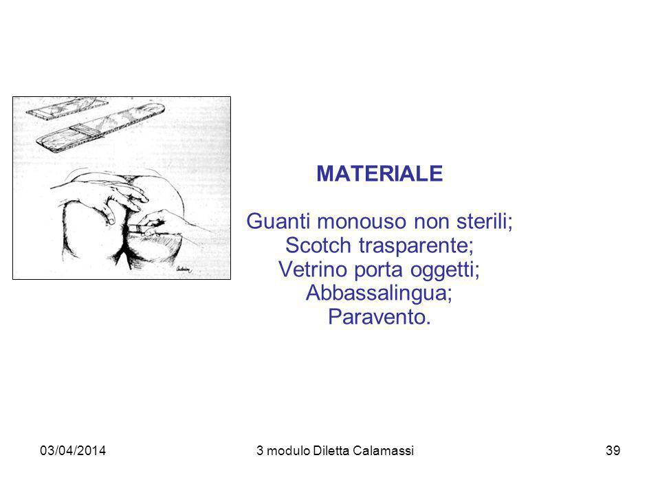 Guanti monouso non sterili; Scotch trasparente; Vetrino porta oggetti;